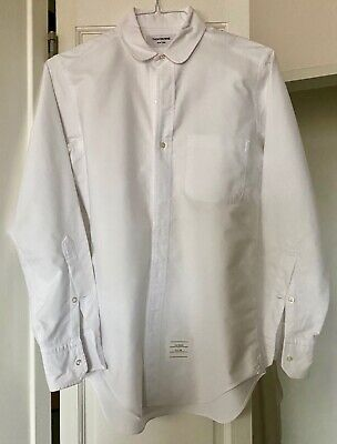 Thom Browne Oxford shirt, rounded collar Size 1 100% Cotton Made in the US