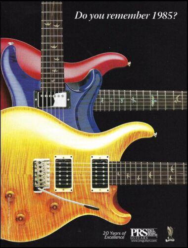 PRS Guitars 1985 - 2005 20th anniversary guitar advertisement ad 8 x 11 print