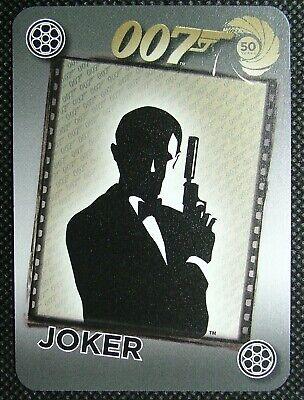 1 x Joker playing card 50 years 007 Silhouette James Bond holding gun B B1