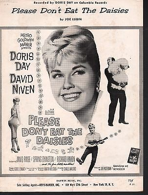 Please Don't Eat The Daisies 1960 Doris Day Sheet Music