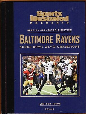 BALTIMORE RAVENS si presents Super Bowl XLVII Champions black book Limited Issue Baltimore Ravens Super Bowl Champions