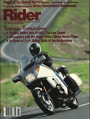 Rider - June 1987 - Touring, Sport & Street Motorcycling At Its Best -BMW