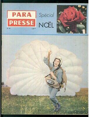 PARA PRESSE REVUE DE PARACHUTISTES FRANCAIS N. 33 1959 PARACADUTISMO AERONAUTICA