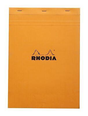 Rhodia Staplebound Notebook 8 14 X 11 34 Graph Orange