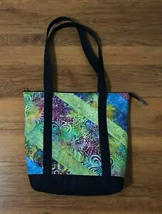 Beautiful Quilted Tote Bag in Bright Colors