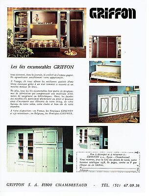Publicité advertising 028  1978   les lits escamotables  griffon