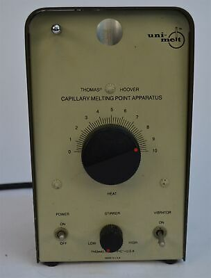 Thomas Hoover Uni-melt Capillary Melting Point Apparatus 6427-h10 No Container