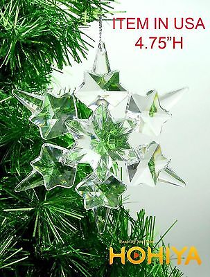 10pcs Christmas Large Acrylic Crystal Ornaments Tree Gift Decorations Home Decor