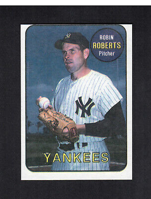 #21 ROBIN ROBERTS, Yankees (1986 Sports Design Products/SDP) Hall of Fame NM/mc