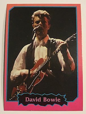 David Bowie 1997 Argentina International Rock Cards Licensed Real Rare Legend