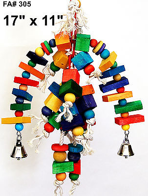 Arch of fun medium pet bird parrot cage toy small cockatoo mini macaw senegal