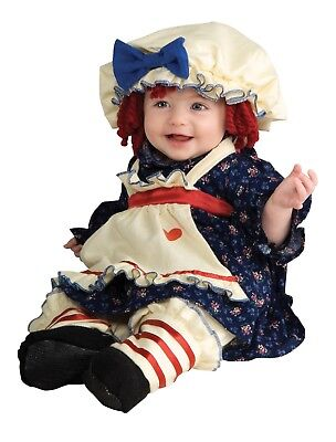 Ragamuffin Dolly Costume Raggedy Ann Dress Blue Colonial Halloween