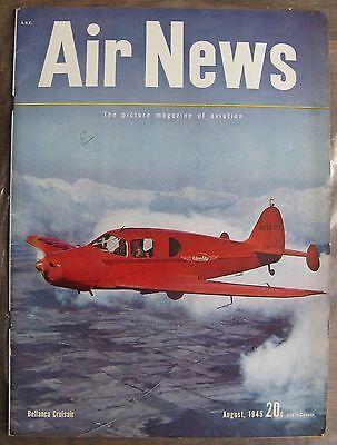Augut 1945 Air News Magazine   Bellanca Cruisair On Cover  Allies Vs Japan  Etc