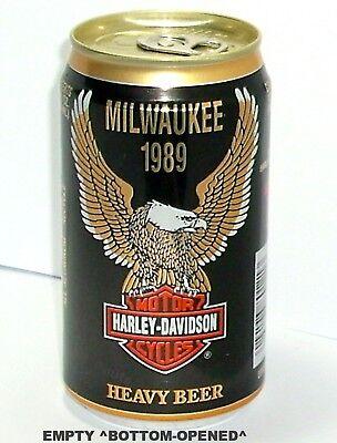 Harley Davidson Beer - 1989 MILWAUKEE,WI. HARLEY-DAVIDSON CYCLE BEER CAN HUBER-BERGHOFF WISCONSIN BIKE