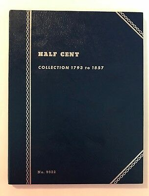 "**RARE**  ""VINTAGE""  1793 - 1857  HALF CENT #9022  ""NEW""  OLD STOCK COIN FOLDER"