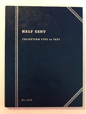 "**RARE**  ""VINTAGE""  1793 - 1857  HALF CENT #9022  ""NEW""  OLD STOCK COIN FOLDER"