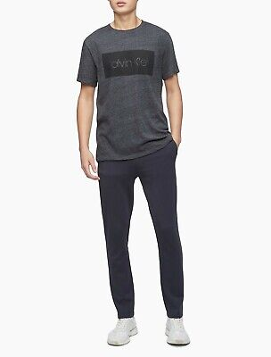 NWT Calvin Klein Men's Graphic Logo Box Crewneck T-Shirt, Choose Color and Size
