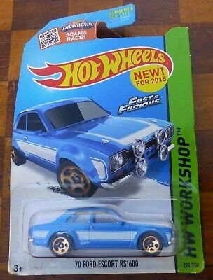 Hot Wheels HW Workshop '70 Ford Escort RS1600 221/250 BLUE/WHITE