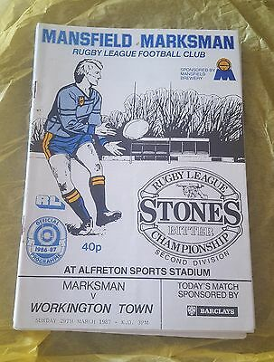 Mansfield Marksman vs. Workington Town - 29/3/1987
