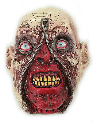 Zipper Face Rotting Zombie Head Latex Halloween Horror Costume Mask (Zipper Head Halloween Costume)
