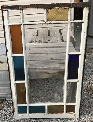 LOCAL PICKUP ONLY***Late 1800/'s Vintage Multi-pane Wood Windows 8-panes each