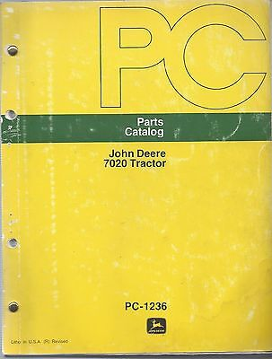 John Deere 7020 Tractor Parts Catalog Waterloo Tractor Works Pc-1236