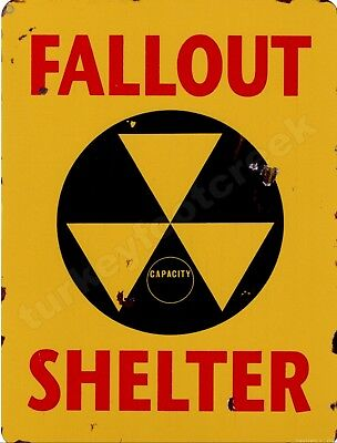 """FALLOUT SHELTER  9"""" x 12"""" Sign"""