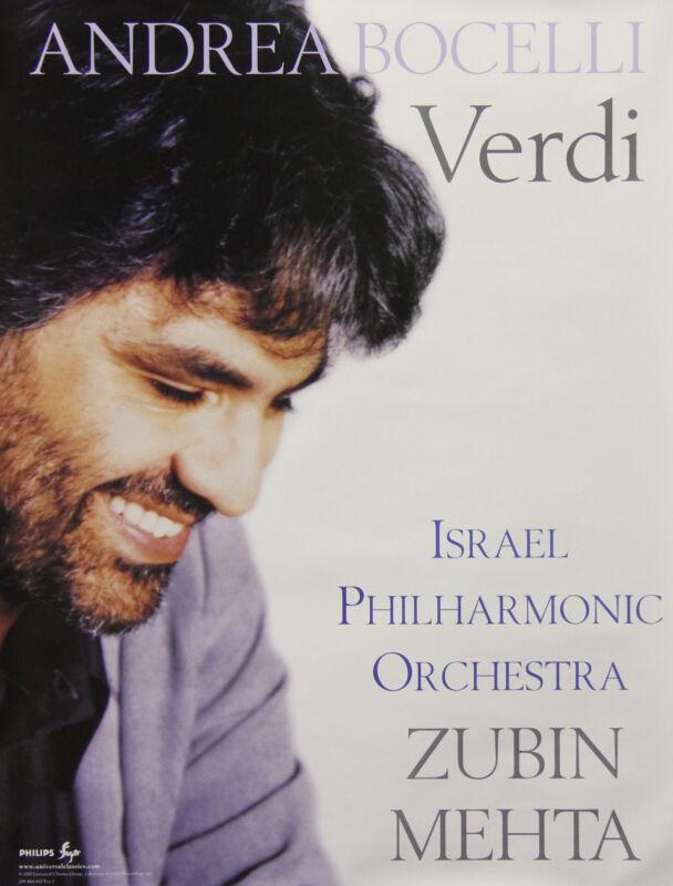 Andrea Bocelli 2000 Verdi Original Promo Poster