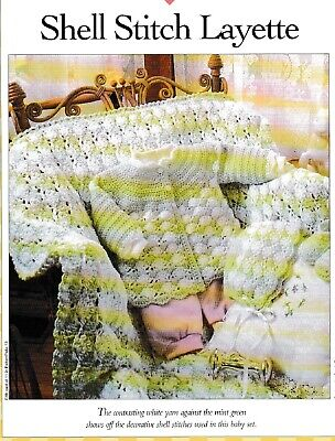 Crochet Pattern ONLY - Shell Stitch Baby Set - Sacque, Hat, Booties, Blanket Crochet Baby Hat Pattern