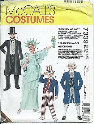 M 7339 sewing pattern PATRIOT COSTUMES Uncle Sam ABE Lady Liberty Knickers - Female Uncle Sam Costume