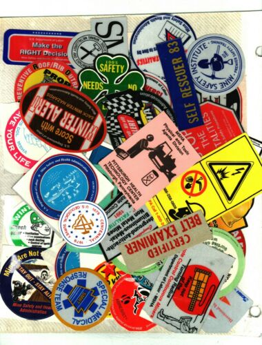 HUGE LOT OF 100 DIFFERENT MSHA-MSA SAFETY  COAL MINING STICKERS