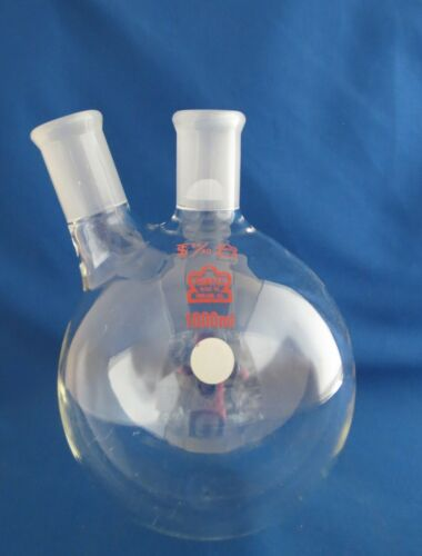 Kontes 1000mL Round Distilling Flask 2 Neck  24/40