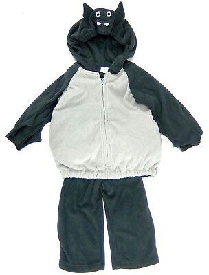Carters Bat Costume Baby Halloween 3 Piece Fleece Vest Pant Shirt Size 12 Months