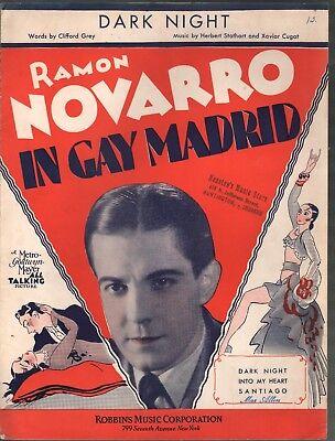 Dark Night 1930 Ramon Navaro In Gay Madrid Sheet Music