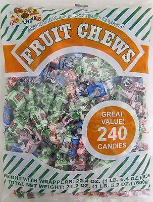 Albert's Fruit Mix Assorted Chews 240 Ct Taffy Candy Alberts Bulk Bag Candies