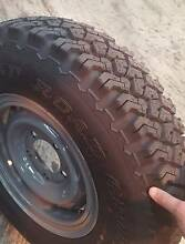 Toyota Land Cruiser Wheels with 750R16 Dunlop Road Gripper Tyres Moonah Glenorchy Area Preview