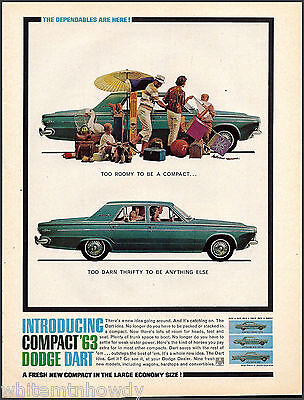 1963 DODGE DART 4-door Sedan Vintage Car AD