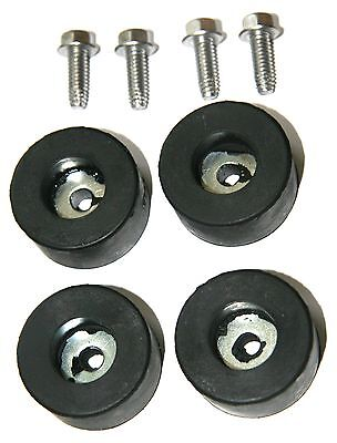 Air Compressor Rubber Feet / Foot Mount Set Of 4 W/ Mounting Screws