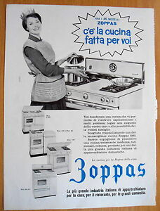 Anni 50 Pubblicit Cucina Zoppas Ebay
