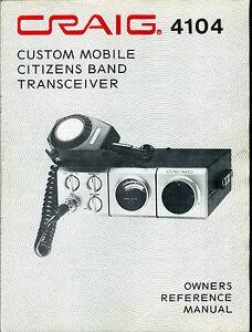 craig 4104 23 channel mobile transceiver cb radio owners. Black Bedroom Furniture Sets. Home Design Ideas
