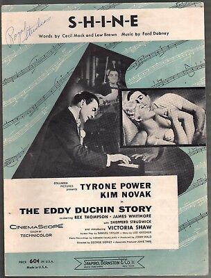 S H I N E 1956 Tyrone Power The Eddie Duchin Story Sheet Music