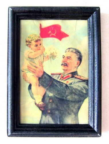 Joseph Stalin Antique Portrait USSR WW II Russia, Russia Rare!!!