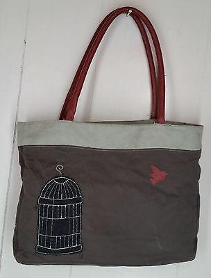 Crave Carli Rae Vergamini cloth Bird Birdcage applique unique Purse handbag