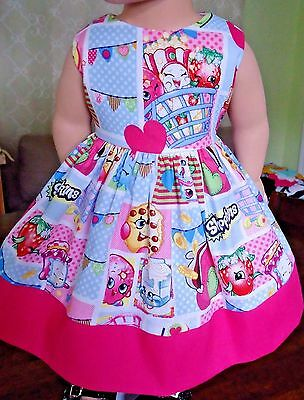 "Doll Clothes-Handmade-American Girl Dolls-Fits18""-Shopkins and Pink Dress."