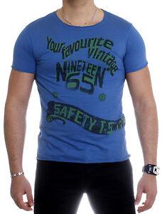 Cinc-Superior-Hombre-Ninos-Camiseta-T-Shirt-Manga-Corta-Cuello-Redondo-8865-Azul