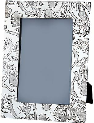 V&A Licensed Peacock Collection - Medium Pewter Picture Frame with Feather