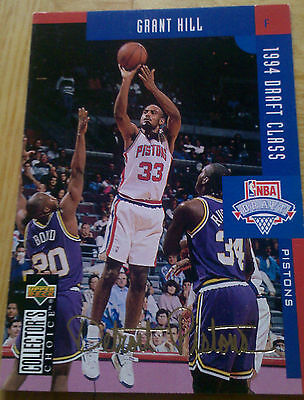Grant Hill Detroit Pistons 1994 NBA Draft Class Gold Signatur Trading Card