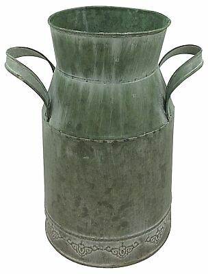 Vintage Zinc Metal Milk Churn Shabby Chic Antiques Style Butter Churn Vase Pot