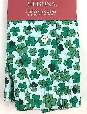 Patricks Day Boxer Shorts (Merona Poplin Shamrock Mens Boxers YOU CHOOSE SIZE Lucky St Patricks Pattys)