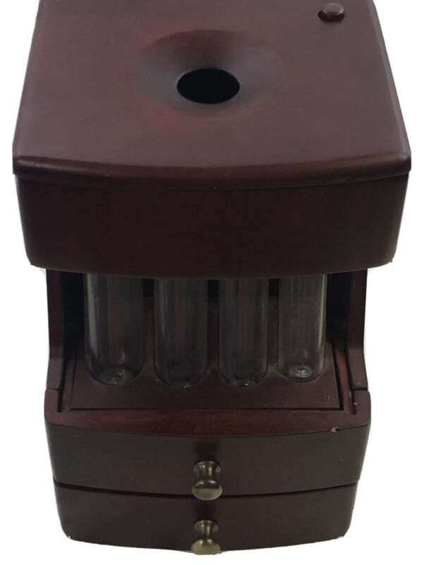 Wooden Coin Counter Sorter Machine Change Money Roller Battery Operated Bank